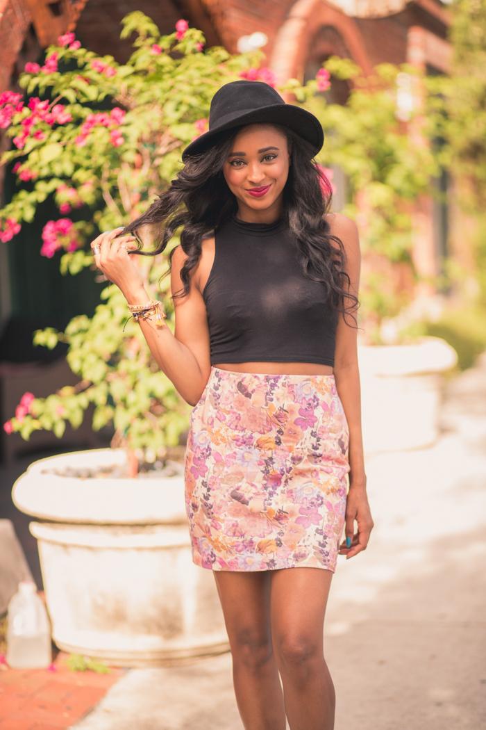 Vividly-Floral-Skirt