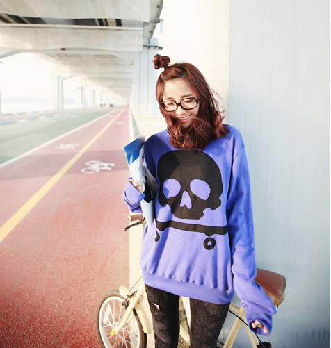 Boxy Skull Sweater