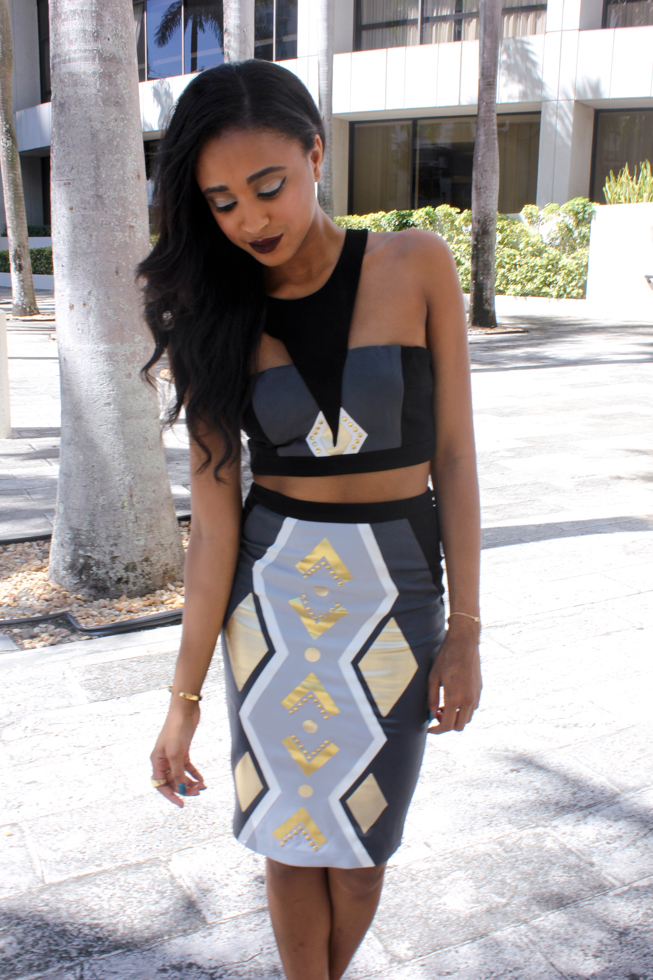 Tribal 2 Piece Bodycon