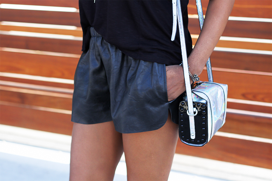 Style Stalker Faux Leather Shorts