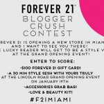 Forever 21 Blogger Crush Contest!