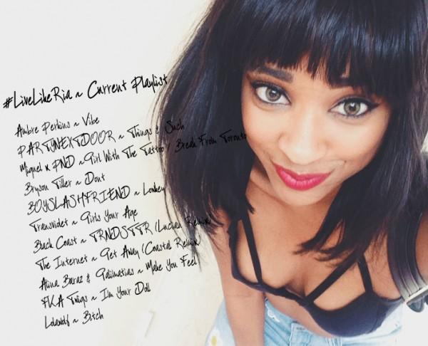 #LiveLikeRia-Current-Playlist-1