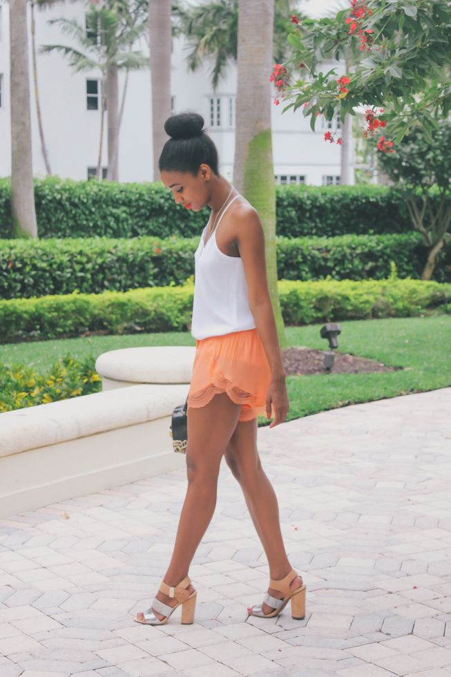 Lover-Lace-Trimmed-Silk-Shorts-Miami-Fashion-Blogger