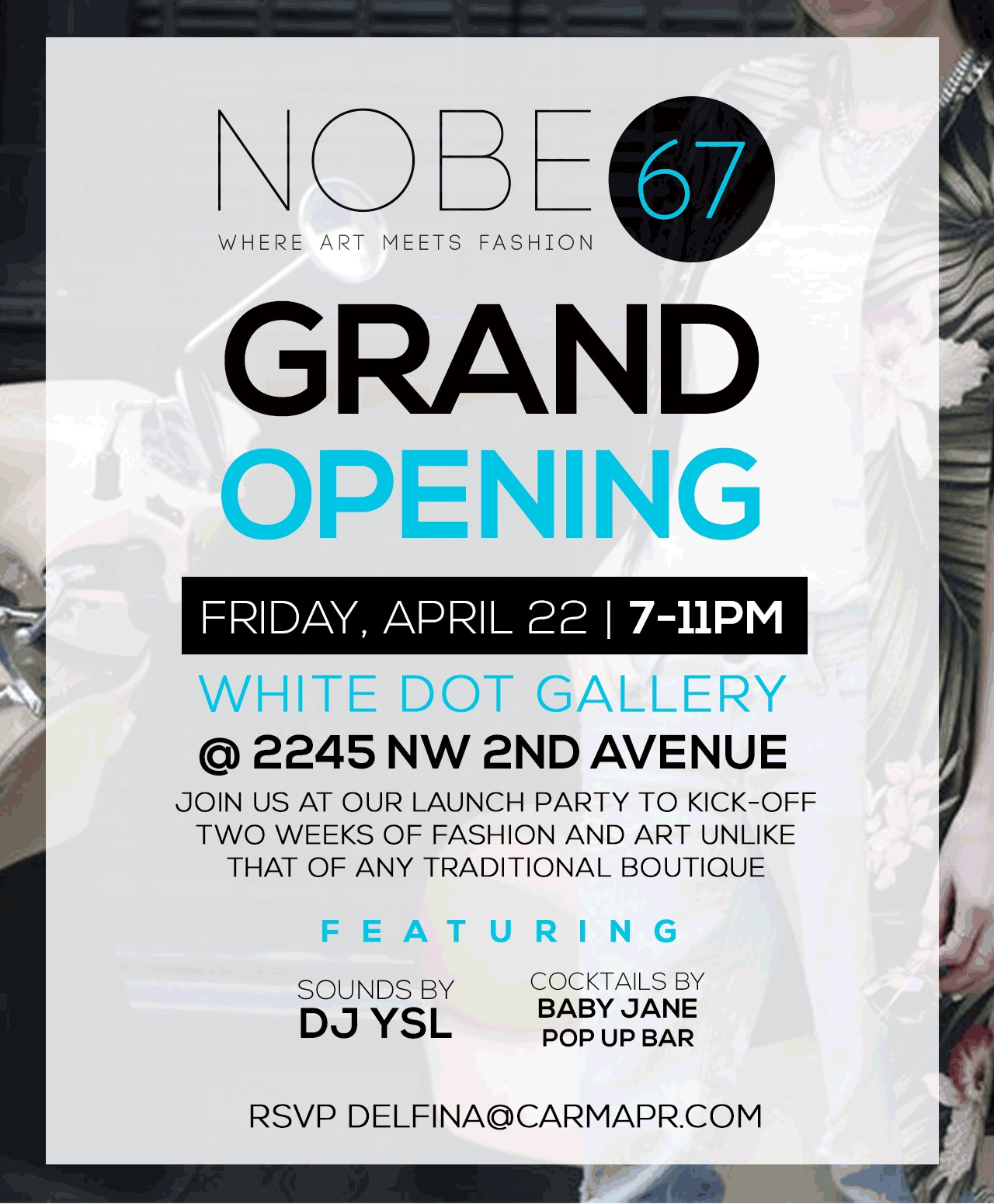NOBE67 Launch Party Invite