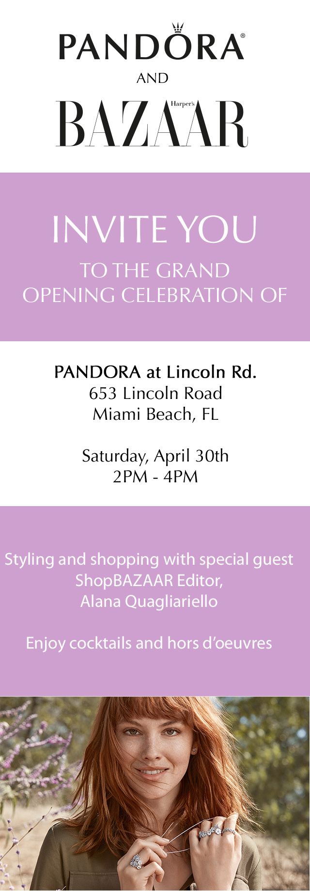 PANDORA Jewelry Lincoln Store Invite