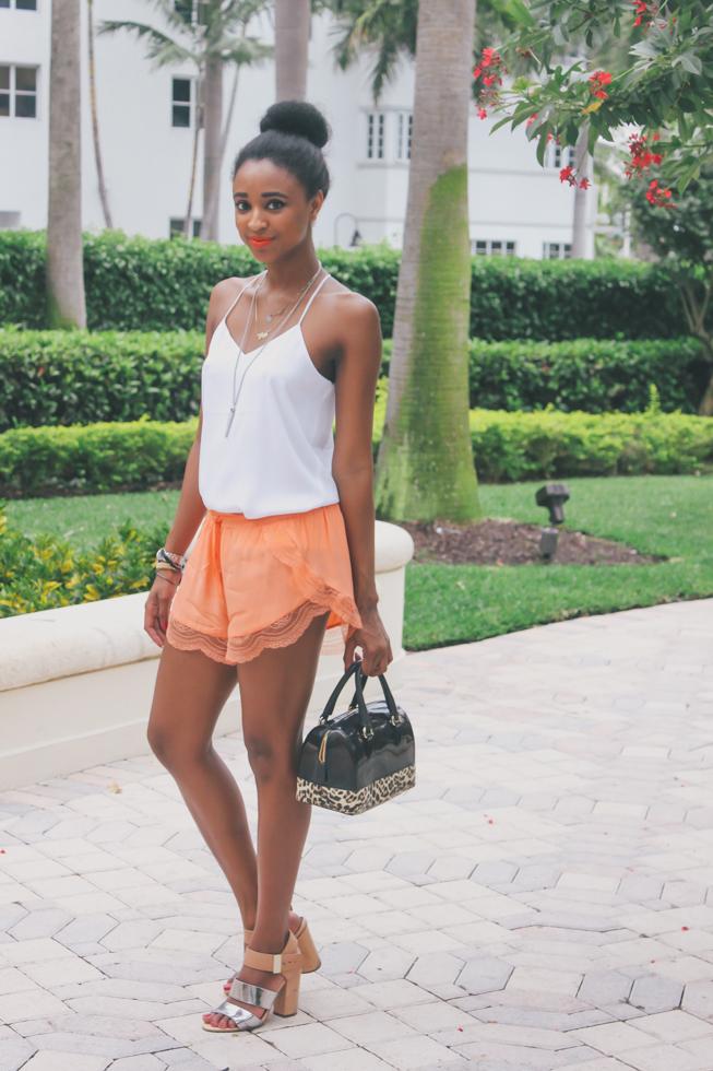 Ria Michelle Black Top Miami Fashion Blog Furla Candy Bag Ria Michelle