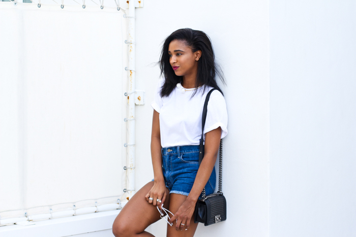 denim-shorts-chanel-chain-boy-bag