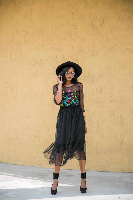 dorothy-perkins-black-embroidered-midi-skater-dress