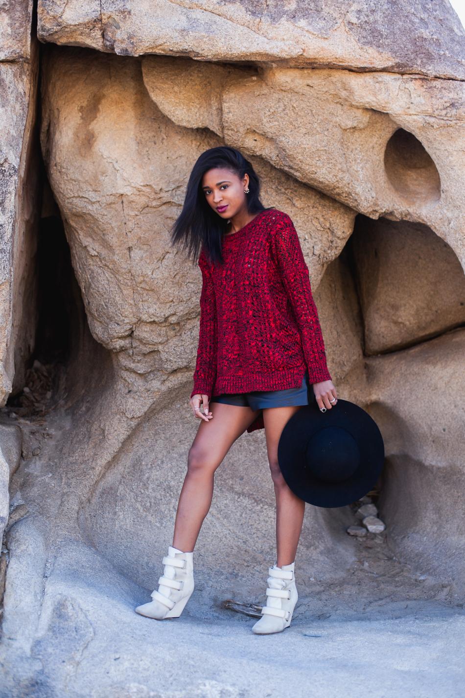 express-marled-open-stitch-tunic-sweater