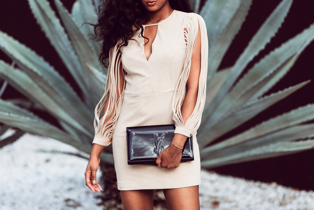 halston mini dress