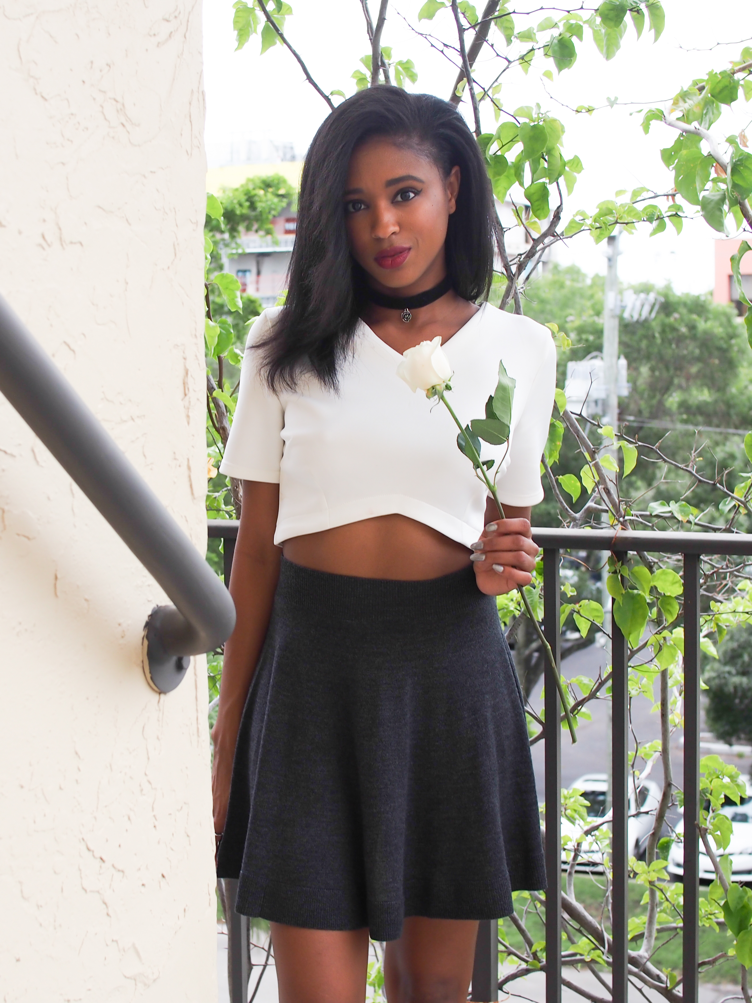 miami-fashion-blogger--lacoste-wool-sweater-skirt